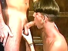 Young dude licking cock and asshole of his partner