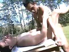 Tender gay lovers suck dicks and fuck in the park