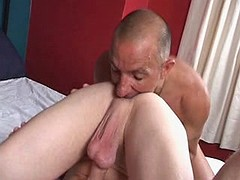 Lustful hunk loves to have his beafy pecker sucked