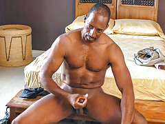 Black daddy Colton relaxes after turn over by pleasuring he's
