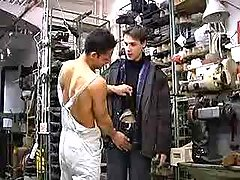 Young straight mechanics trying gay sex first time