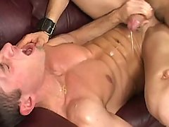 Gay takes his first huge cock