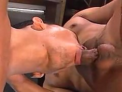 Asian gay slut training his greedy mouth on knees