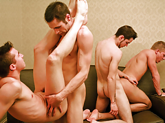 Frenzy Fuck Festival In An Hotel Bedroom With 6 Hot Studs!
