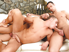 Enrico purchases double-stuffed by beautiful euro twins Alex & Ian