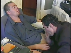 Sexy male roomates take in a hard dick in 1 movie scene