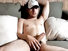 Straight Guy Attempts to Eat His Own Cock cream - Lil B