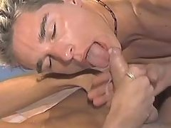 Gay gets cum and jizzes in mouth