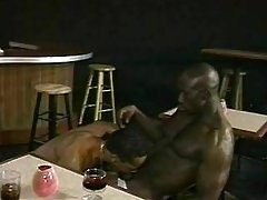 Beefy black stud taking mighty dick