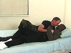 Black stud pounds hungry gay bitch