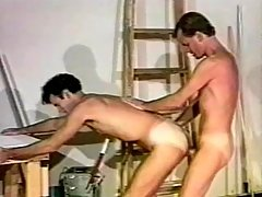 Lustful gay hunk likes it fast
