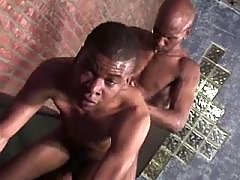 Filthy black gay gets slammed hard