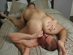 Sexy gay spreads buttocks for boyfriend