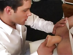 Hot gay plays with big toy