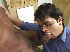 Bear gay deep throats black cock