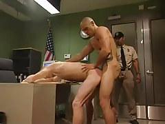 Dirty boss drills poor man in office