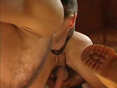 Lusty hairy gay licks out males hole in house hunting