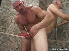 Silver mature gay crazy dildofucks poor twink