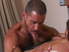 Mature man throats appetizing cock