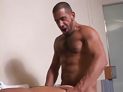 Hairy gay man fucks guy in doggy style