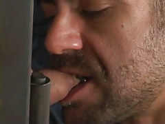 Bear gay sucking tasty cock